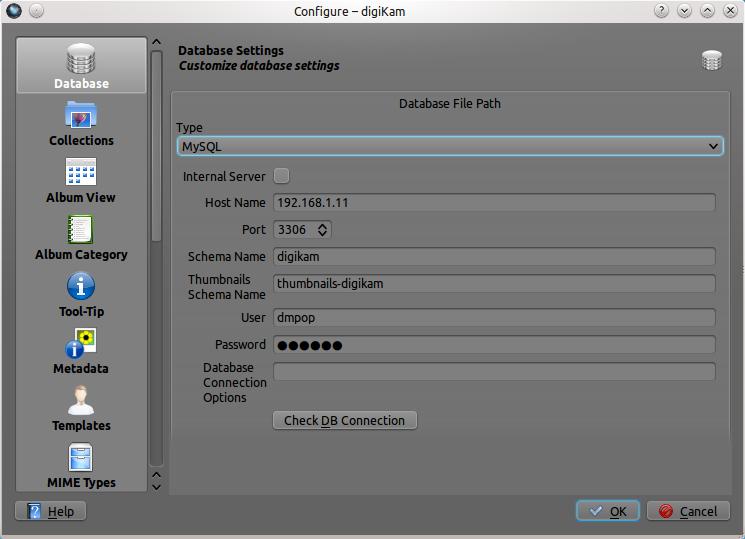 Using digiKam with MySQL (1/2)