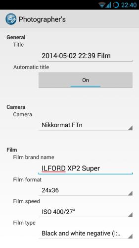 Adding a film roll